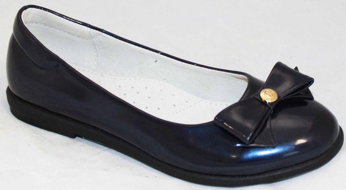 Туфли для девочки Leopard Kids, цвет: синий. RL16F-4780-7(RL16Y-4780-7). Размер 35
