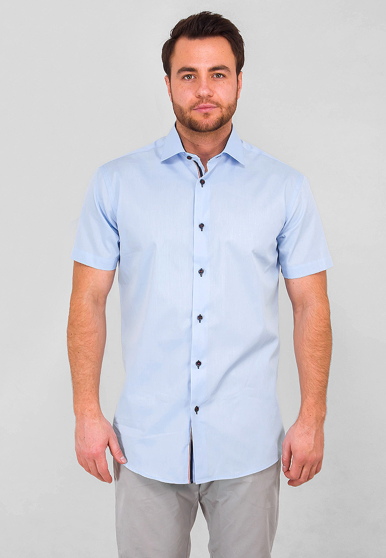Рубашка мужская Greg, цвет: голубой. 220/109/NBL/Z/1. Размер 43 (54)
