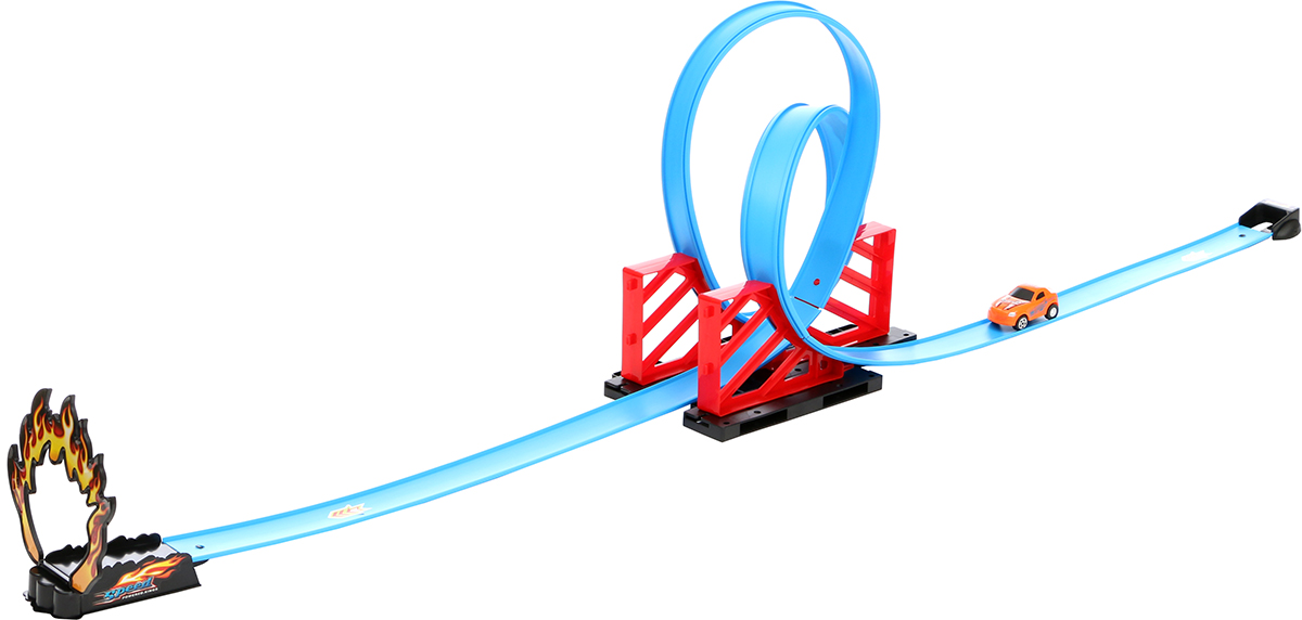 Tongde Игрушечный трек с машинкой 14 элементов набор игровой для мальчика poli средний трек с умной машинкой