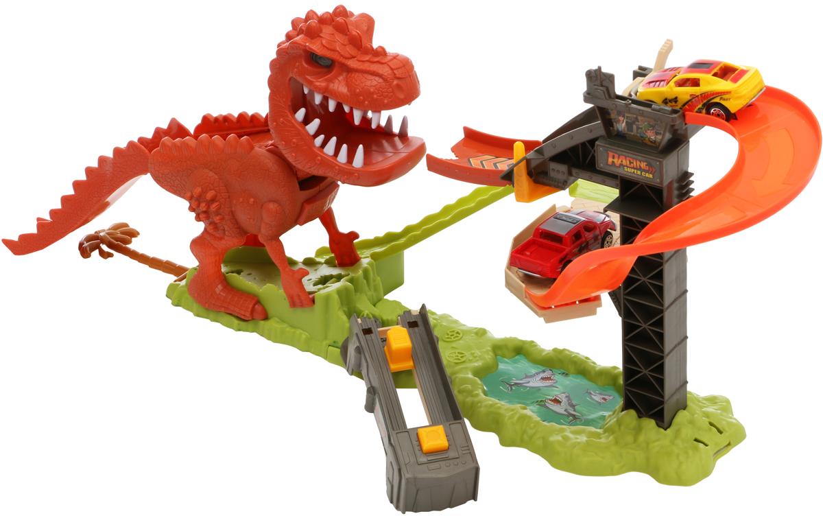 Tongde Игрушечный трек Динозавр c машинкой tonka игрушечный трек trash treader