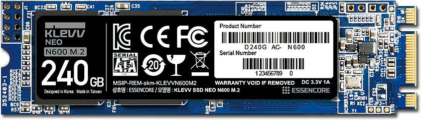 Klevv NEO N600 M.2 240GB SSD-накопитель (D240GAC-N600)