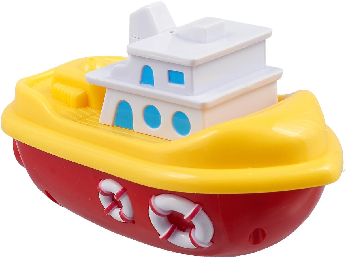 Bampi Заводная игрушка Моторная лодка цвет белый, желтый, красный