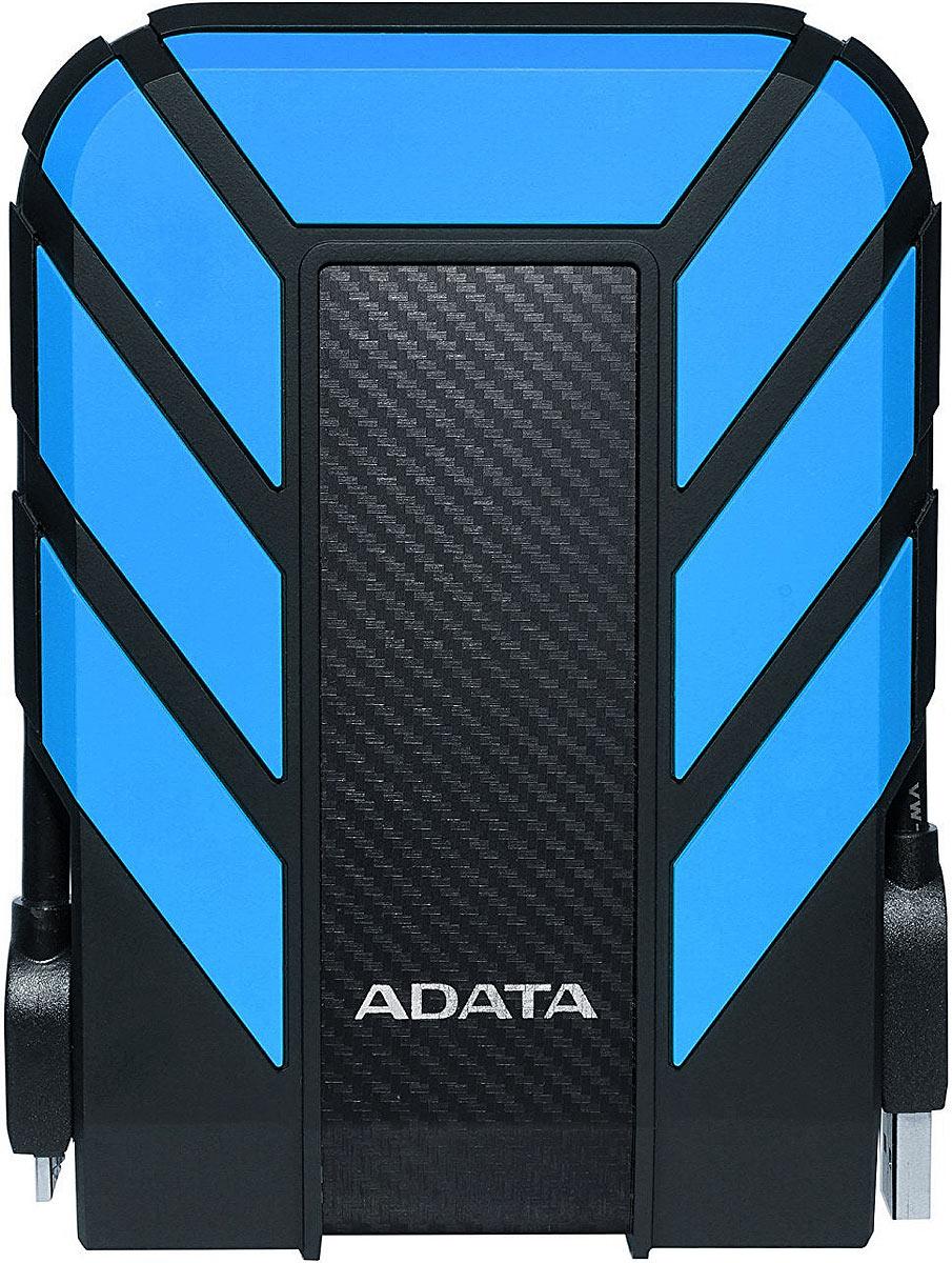ADATA HD710 Pro 1TB, Blue внешний жесткий диск (AHD710P-1TU31-CBL)AHD710P-1TU31-CBLHD710 Pro вносит новое слово в срок службы внешних жестких дисков. Мы протестировали его в соответствии с стандартами пыле- и влагоустройчивости IP68, а также убедились в том, что он проходит военные испытания на прочность благодаря своей трехслойной защитной конструкции. Имея объем до 5 Тб, этот образец хранилища с долгим сроком службы - ваш помощник в безопасном хранении данных в любом вашем увлечении, будь то дайвинг, пеший туризм, езда на велосипеде или просто быстрая прогулкаСтандарт IP68 для противостояния неожиданностямБлагодаря опыту ADATA внешний жесткий диск имеет полную защиту от попадания пыли и возможность выживать в воде как настоящая подводная лодка. Диск HD710 Pro прошел испытания на глубине 2 метров под водой в течение 60 минут - это больше, чем требует стандарт IEC IPX8! Готовы нырнуть?* Защита от воды может быть использована в полном объеме только при плотно закрытой крышке порта USBПримите удары как истинный воин благодаря военному стандарту ударопрочностиДиск HD710 Pro оснащен защитой от ударов, попадания капель. вибраций - и все это благодаря своей особо прочной трехслойной конструкции. Мы протестировали диск на соответствие военному стандарту США MIL-STD-810G 516.6, что значит, что он может безопасно падать с высоты 1,5 метра. Ваши данные в безопасности, свободно выходите туда, куда вам нужно, и принимайте больше вызовов от жизни.Тройная защитная конструкция с длительным сроком службыНе имеет значения, какие именно данные хранятся на внешнем диске HD710 Pro, он всегда обеспечивает им превосходную защиту. Диск оснащен тремя первичными слоями покрытия - прочный силикон, буфер для поглощения ударов и прочный пластиковый корпус, который находится ближе всего к самому диску и надежно удерживает его на месте.Эксклюзивная технология чувствительности к вибрациям ShockДаже после падения или удара небольшие внешние диски пытаются продолжать работу, что приводит к появлени