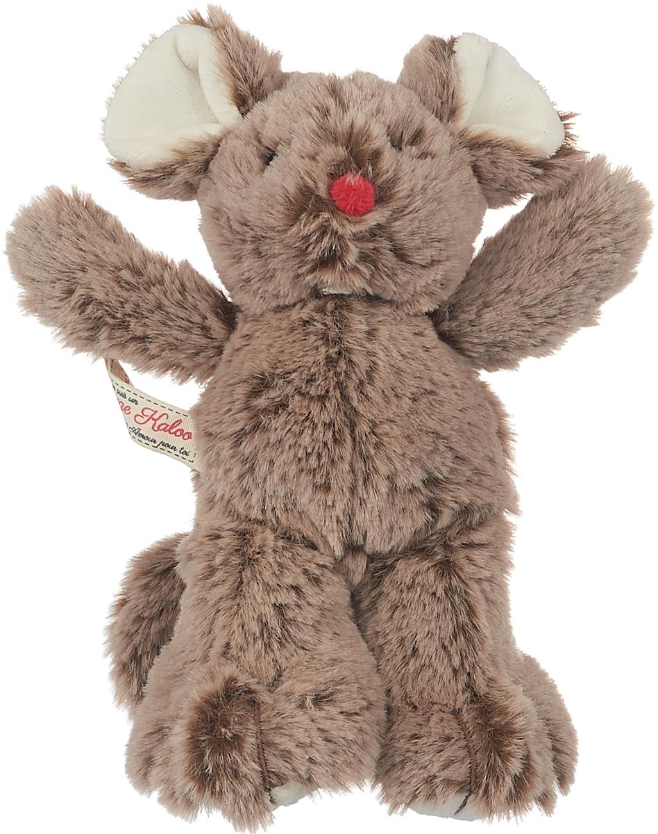 Kaloo Мягкая игрушка Мышка цвет коричневый 19 см kaloo мягкая игрушка заяц белочка 15 см