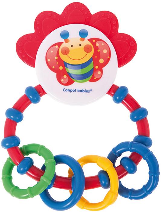 Canpol Babies Погремушка-прорезыватель Happy garden цвет красный погремушки canpol 2 457