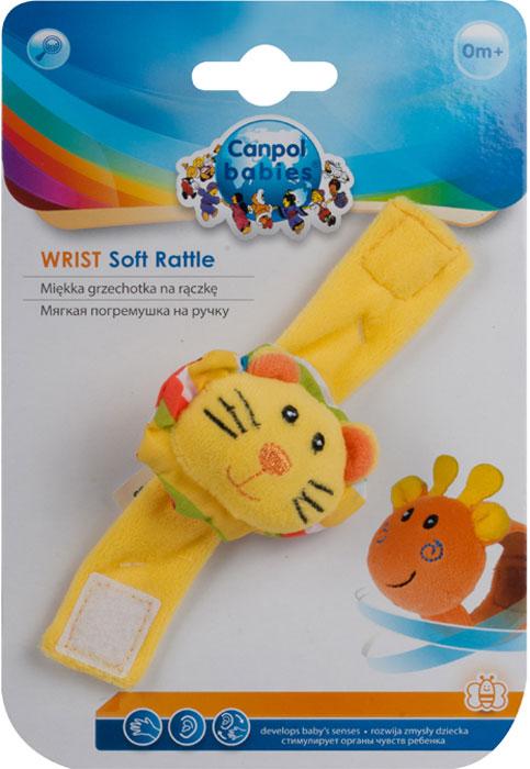 Canpol Babies Мягкая игрушка с погремушкой на руку цвет желтый