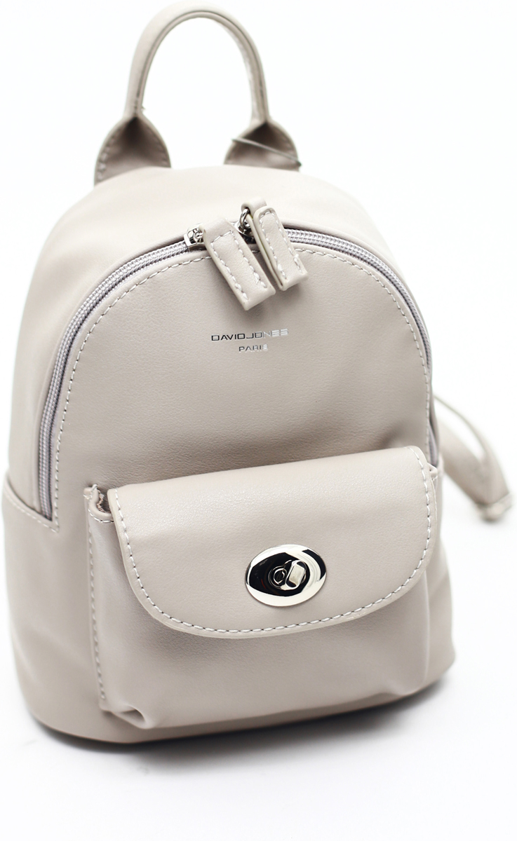 Рюкзак женский David Jones, цвет: светло-серый. СМ3716
