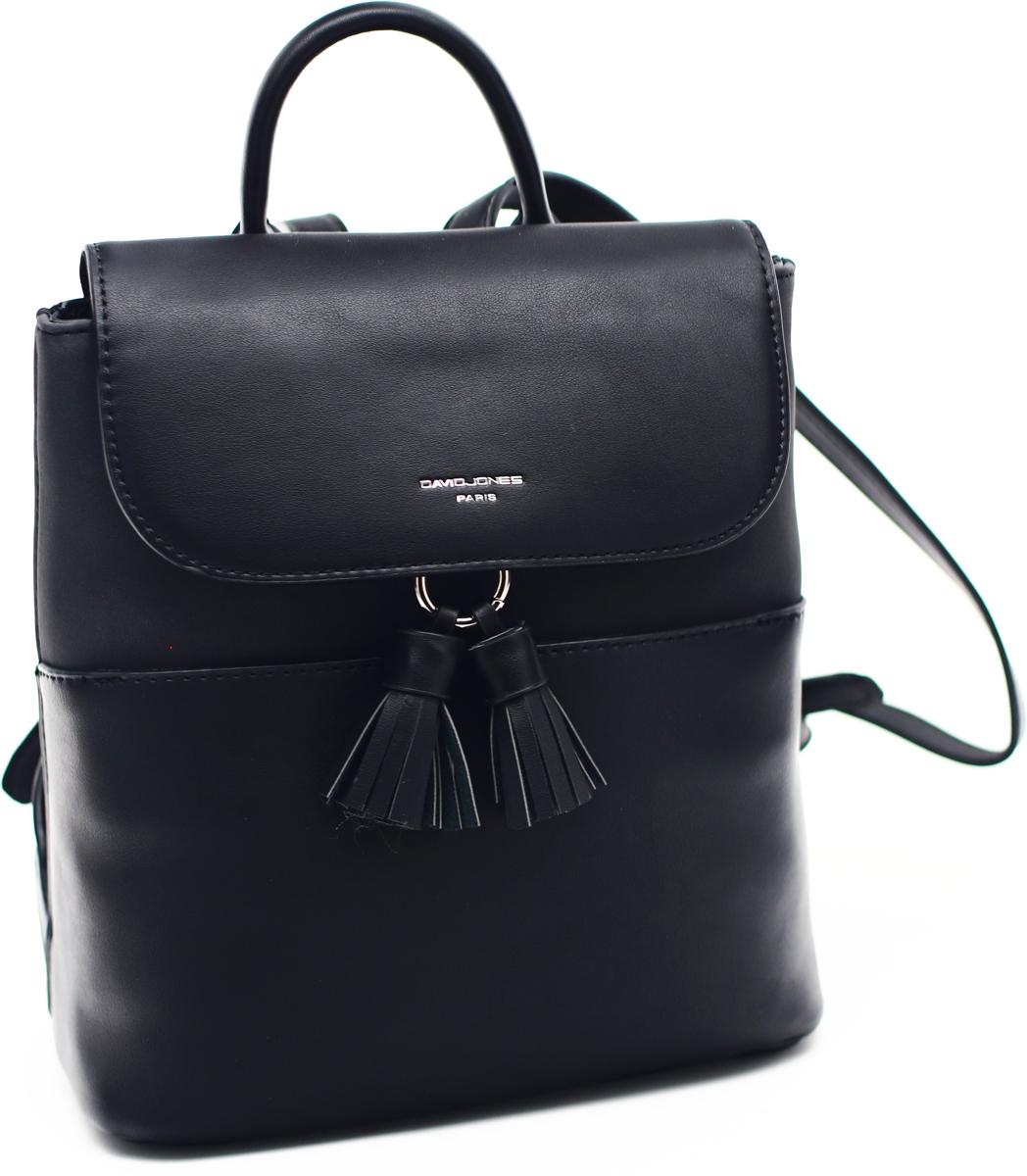 Рюкзак женский David Jones, цвет: черный. СМ3702
