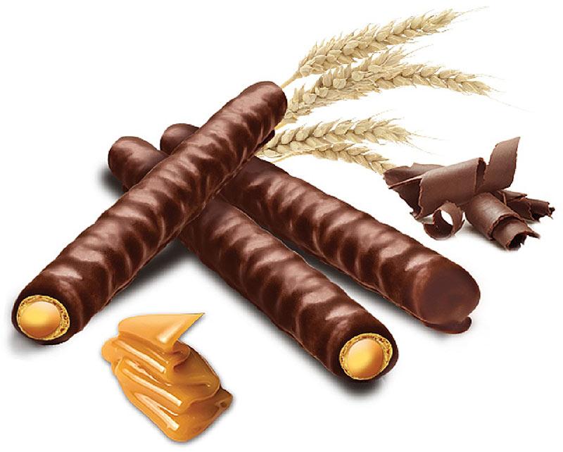 Flis Happy Alvaro Caramelтрубочки вафельные с карамелью в шоколаде, 120 г Flis