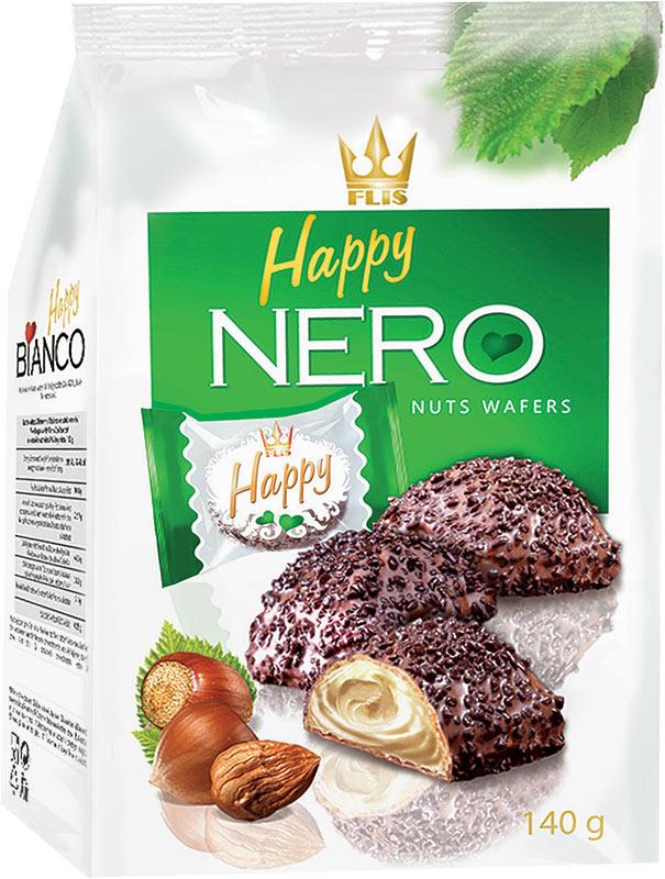 Flis Happy Nero ореховые глазированные конфеты, 140 г flis happy time ореховые глазированные конфеты 92 г