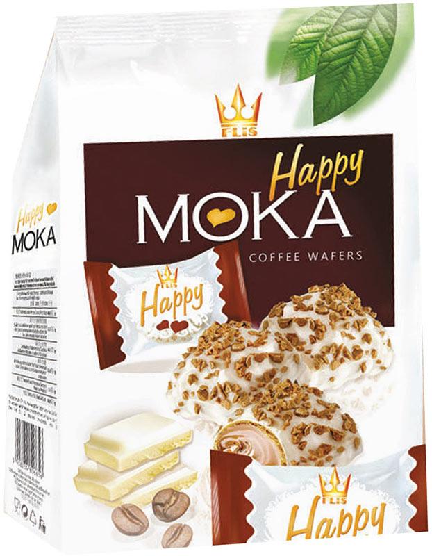 Flis Happy Moka кофейные глазированные конфеты, 140 г flis happy time ореховые глазированные конфеты 92 г