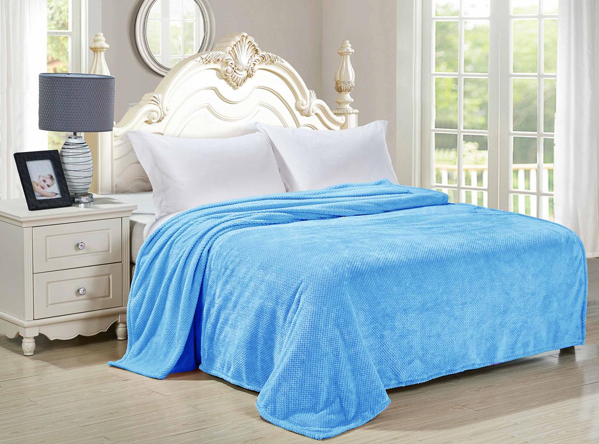 Плед-покрывало Guten Morgen Ривьера, цвет: голубой, 200 х 220 см плед absolute цвет голубой 150 х 200 см 65695