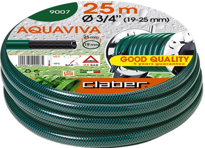"""Шланг поливочный Claber Aquaviva, диаметр 3/4"""", длина 25 м шланг поливочный fit армированный 1 х 3 0 мм 25 м 77286"""