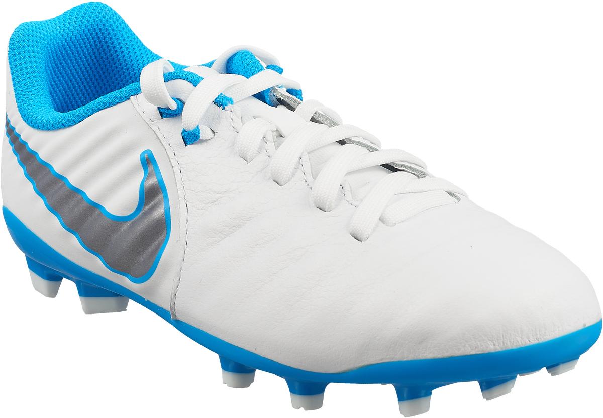 Бутсы для мальчика Nike Jr Legend 7 Academy Fg, цвет: белый. AH7254-107. Размер 12C (28,5) бутсы nike mercurial victory iii fg 509128 800