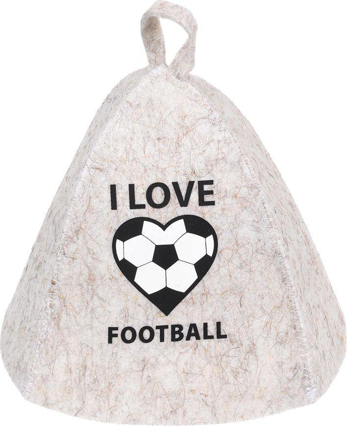 "Шапка для бани и сауны Нot Pot ""I Love Football"", Hot Pot"