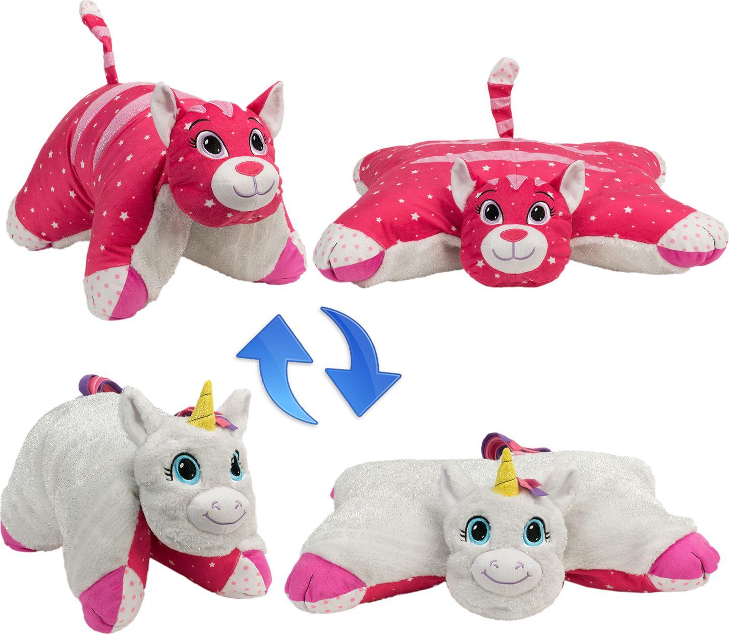 Zakazat.ru: 1TOY Мягкая игрушка Вывернушка 2в1 Белый Единорог-Розовая Кошечка 16 см