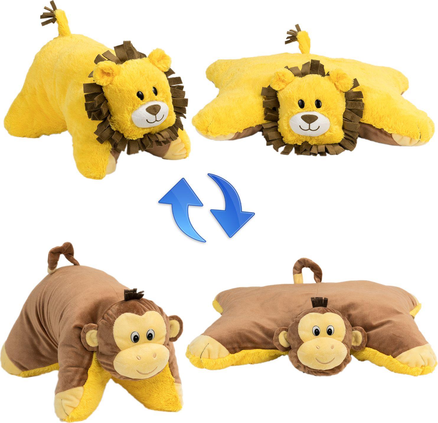 1TOY Мягкая игрушка Вывернушка 2в1 Лев-Обезьянка 26 см