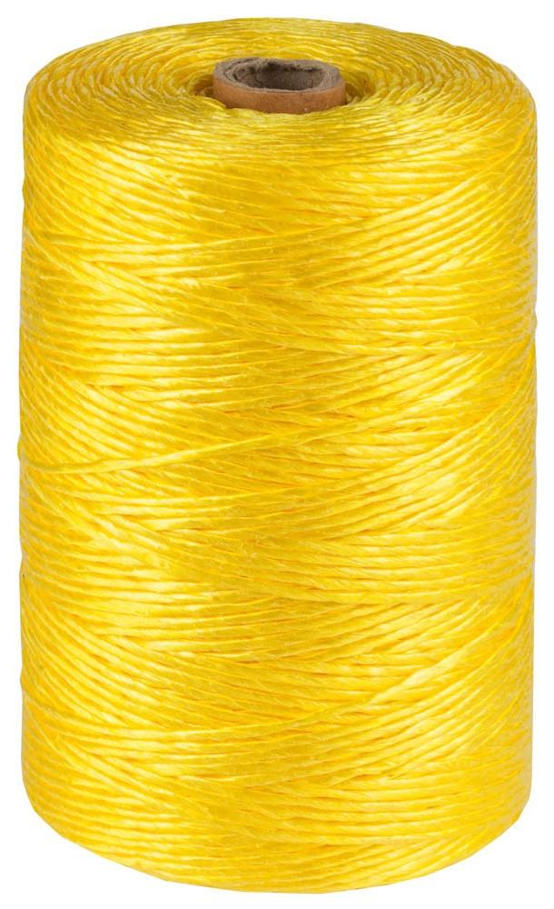 Шпагат ЗУБР предназначен для хозяйственно-бытовых целей и упаковочных работ. Высокая износостойкость. Не подвержен гниению и плесни. Положительная плавучесть. Устойчив к действию кислот, щелочей и органических растворителей. Длина 110 м. Диаметр 1,8 мм. Цвет желтый.