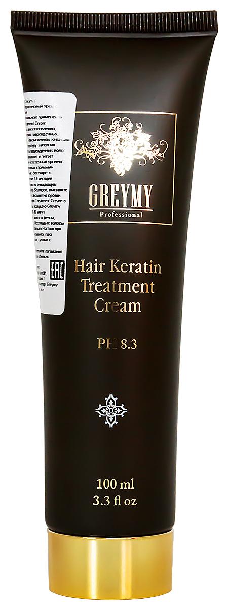 Greymy Hair Keratin Treatment Cream Восстанавливающий кератиновый крем для волос, с эффектом выпрямления, 100 мл усилитель роста волос для женщин hair regrowth treatment regular strength for women 2% 60мл х 2