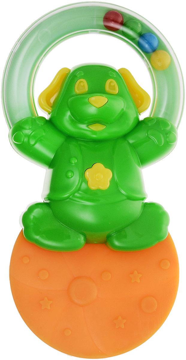 Stellar Погремушка-прорезыватель Жонглер Мишка цвет зеленый