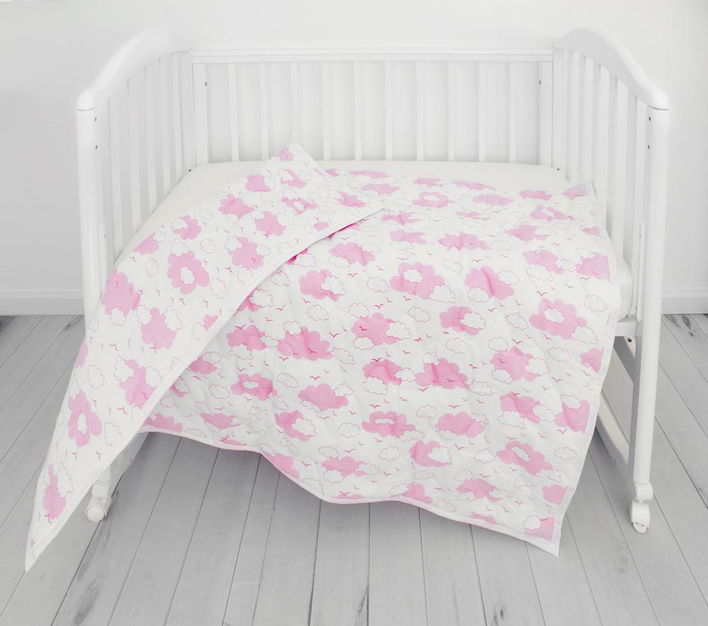 Споки Ноки Одеяло детское цвет розовый 105 х 140 споки ноки борт в кроватку с органайзером облака цвет голубой