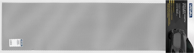 """Сетка радиатора """"Rival"""", универсальная, 100 х 25 см, R10, цвет: черный"""