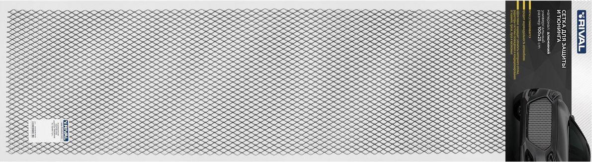"""Сетка радиатора """"Rival"""", универсальная, 100 х 25 см, R16, цвет: черный"""