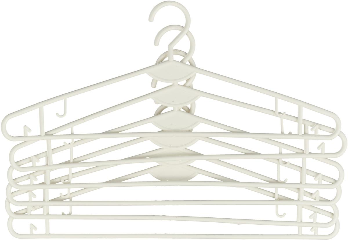 Набор вешалок для одежды Miolla, цвет: белый, 6 шт