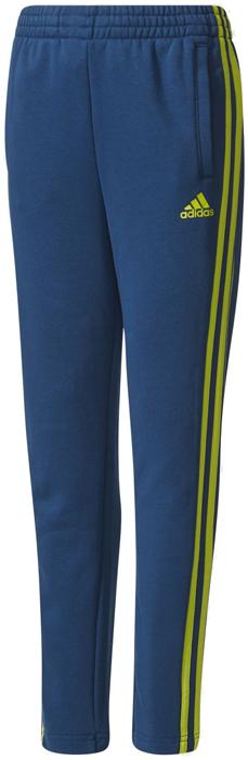 Брюки спортивные для мальчика Adidas Yb 3s Ft Pant, цвет: синий, желтый. CE6474. Размер 128