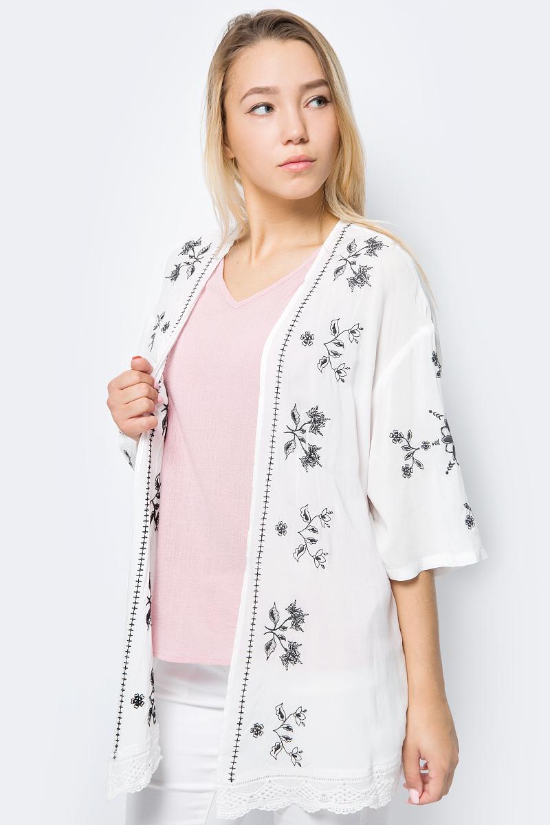 Кардиган женский Mustang Feminine Kimono, цвет: белый. 1005599-2020. Размер 36 (44)