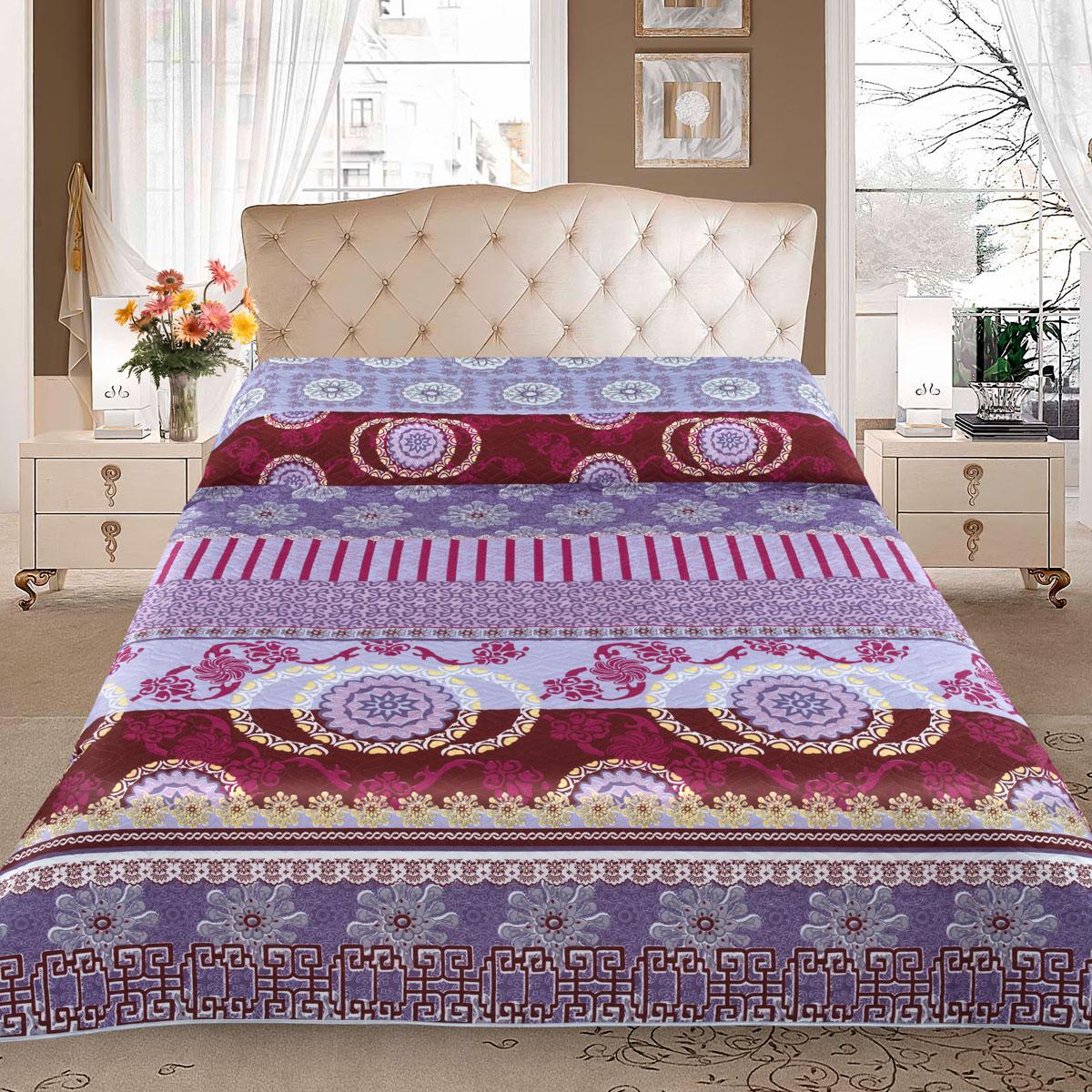Покрывало Letto, цвет: фиолетовый, 210 x 240 см. pp25