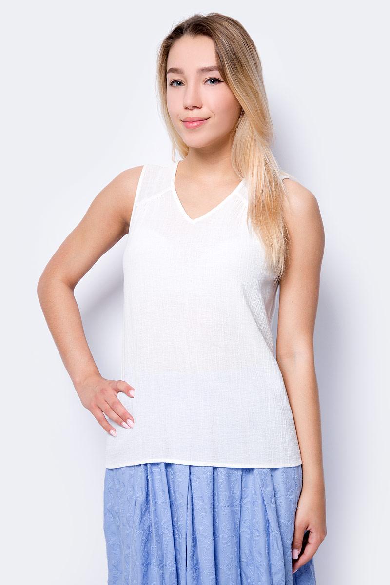 Блузка женская Vero Moda, цвет: белый. 10192396_Snow White. Размер M (44)