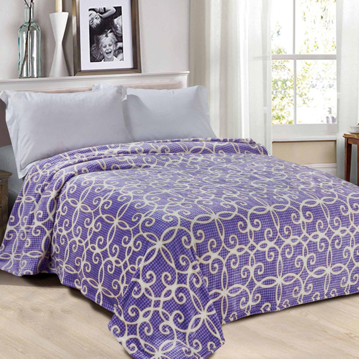 Плед Letto Велсофт, цвет: фиолетовый, 140 х 200 см. V152-3 цена