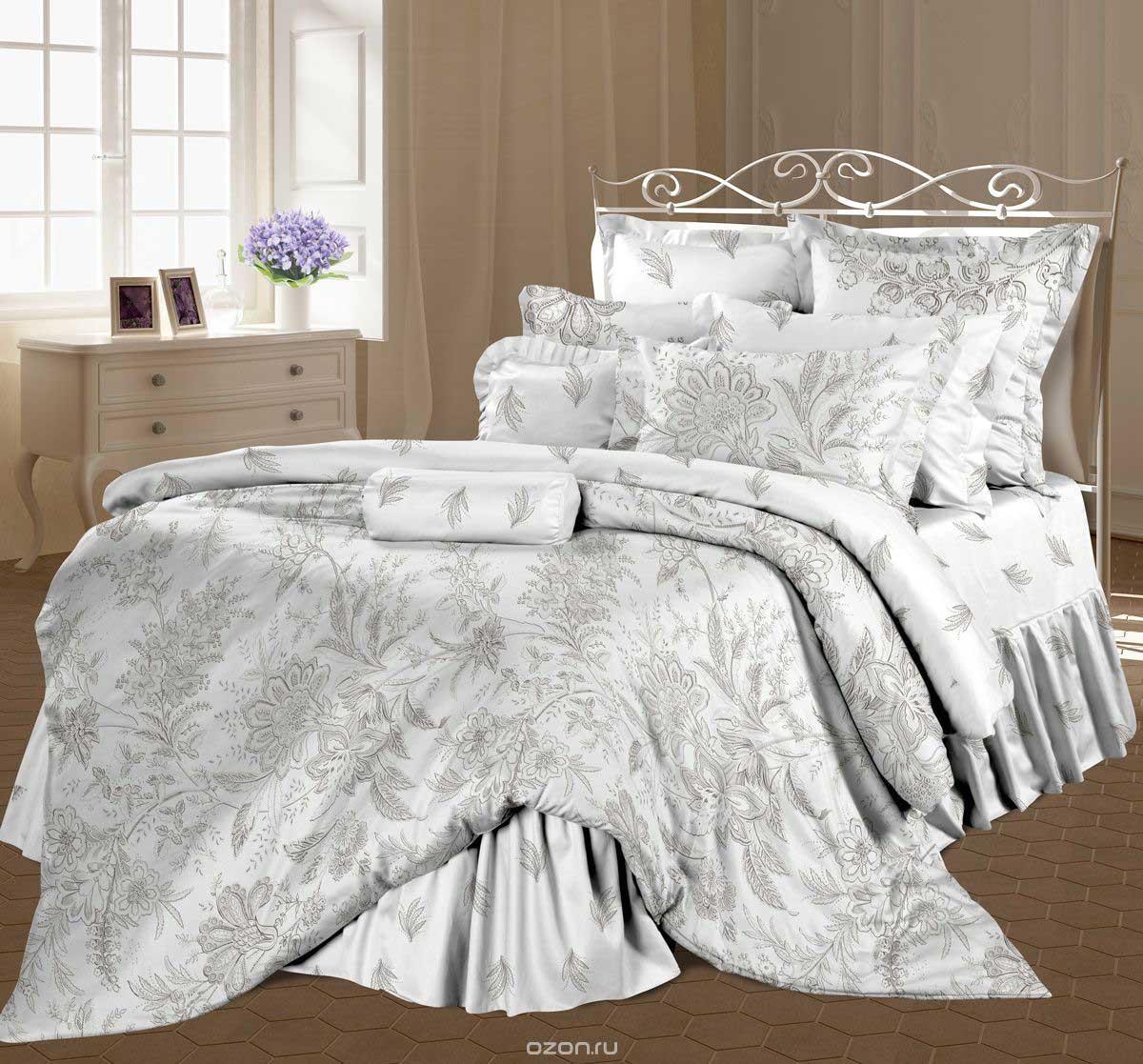 Комплект постельного белья Унисон Ирландское кружево, 1,5-спальный, наволочки 70х70