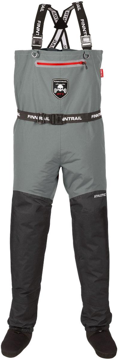 Вейдерсы Finntrail Athletic Plus, цвет: серый. 1522Grey. Размер XXL (54/56)