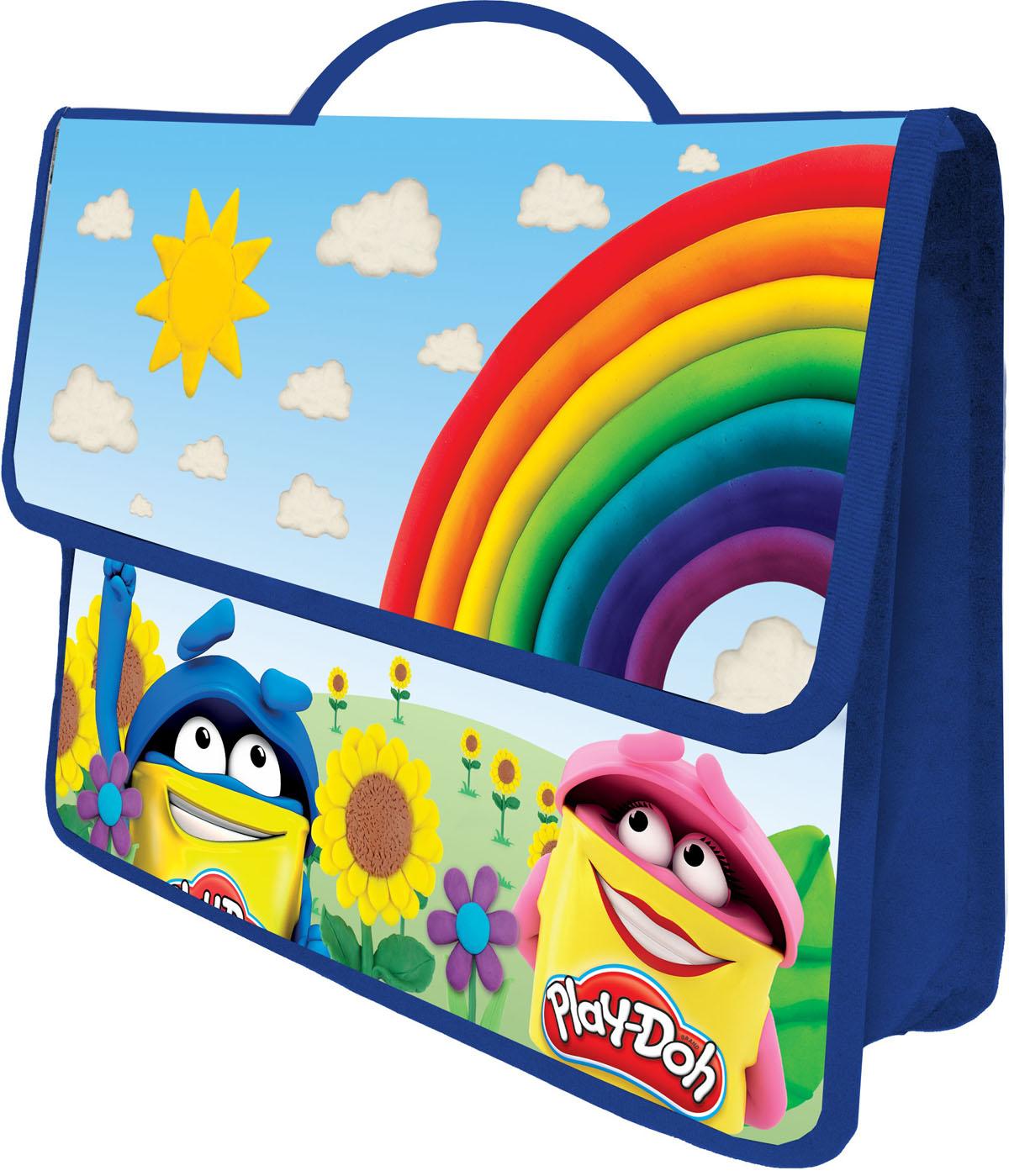 Play-Doh Многофункциональная папка-портфель А4 цвет синий