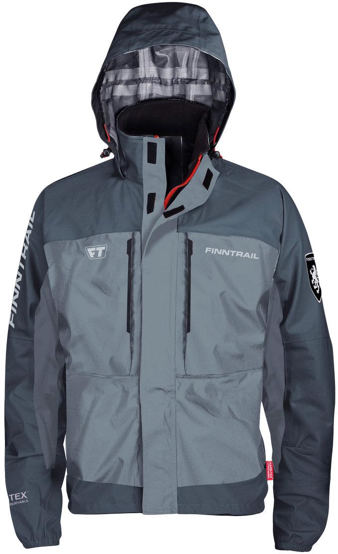Куртка рыболовная Finntrail Shooter, цвет: серый. 6430Grey. Размер XXL (54/56)
