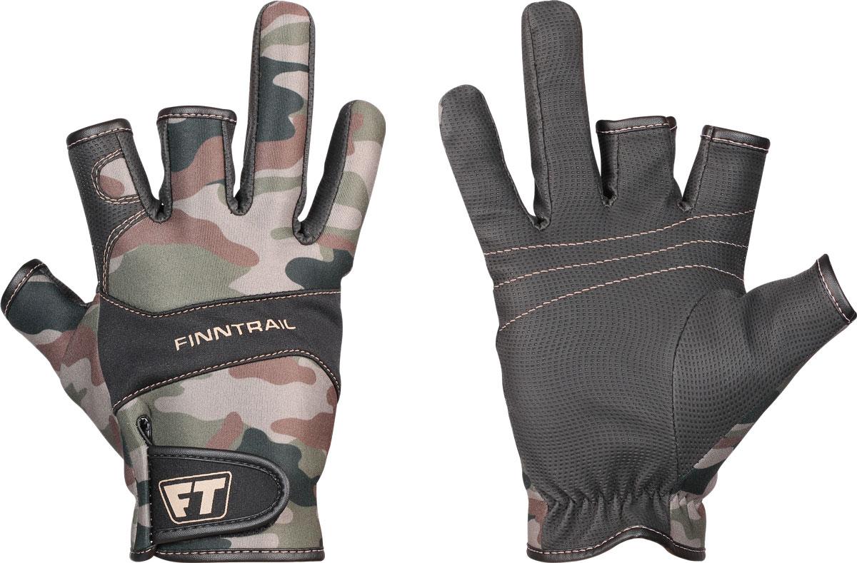 Перчатки Finntrail Neosensor, цвет: зеленый камуфляж. 2400. Размер XL
