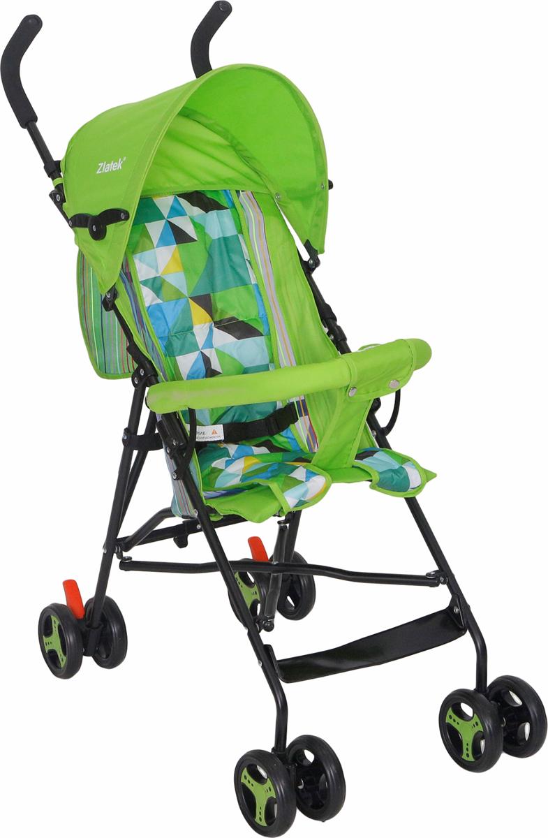 Zlatek Коляска прогулочная Micra цвет зеленый zlatek коляска прогулочная discovery цвет темно синий