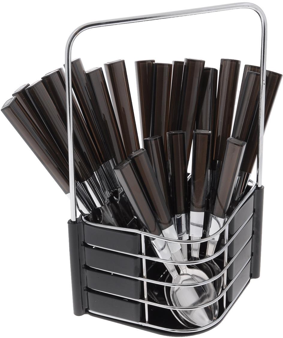 Набор столовых приборов Mayer&Boch, цвет: черный, 25 предметов. 23241 набор ножей 8 предметов mayer