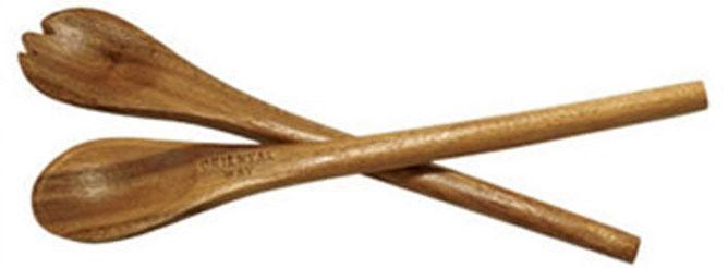 """Элегантный прибор """"Oriental way"""", выполненный из  тонированной древесины акации, прекрасно подойдет для вашей кухни. Применяется для красивой сервировки салатов и других блюд. Характеристики:  Материал: дерево. Длина: 30 см. Производитель: Тайланд. Артикул: 9/624. Торговая марка """"Oriental way"""" известна на рынке с 1996 года. Эта марка объединяет товары для кухни, изготовленные из дерева и других материалов. Все товары марки """"Oriental way"""" являются безопасными для здоровья, экологичными, прочными и долговечными в использовании."""