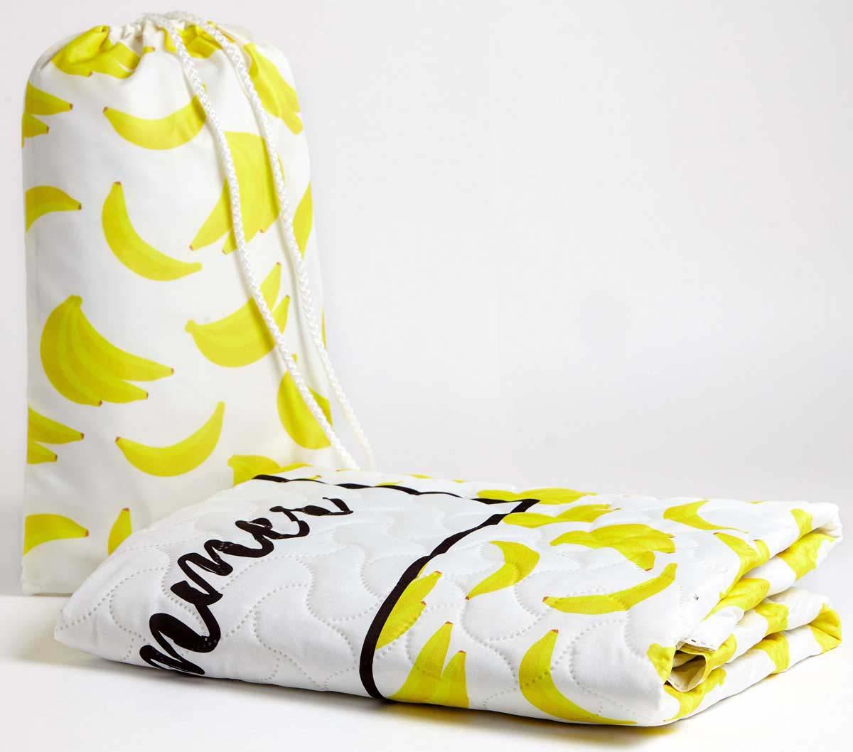 Покрывало пляжное Сирень Банановый смузи, детское, 90 х 140 см пляжное покрывало влюбленные кактусы
