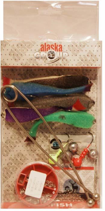 Набор для летней рыбалки Аляска Джиг-поролон №1, для ловли судака, 71 предмет