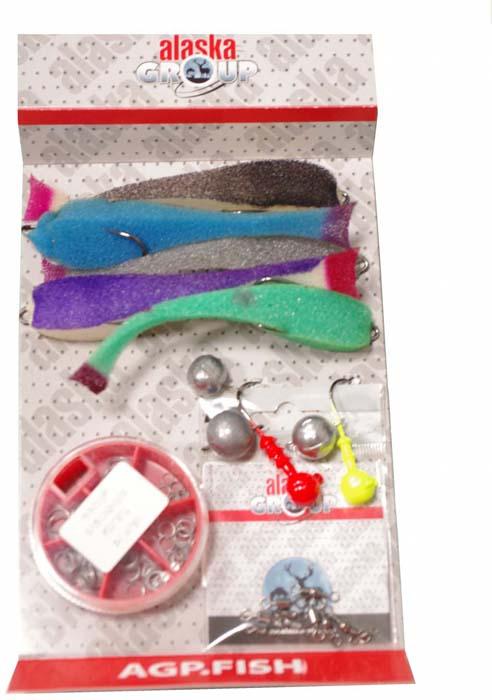 Набор для летней рыбалки Аляска Джиг-поролон №2, для ловли судака, 71 предмет