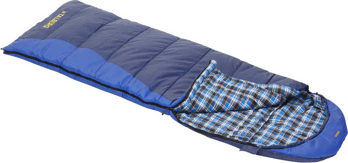 Спальный мешок-одеяло Talberg Bussen -11С, левосторонняя молния, цвет: синий