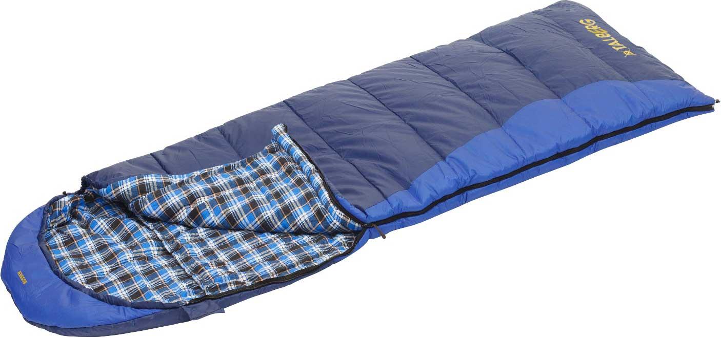 Спальный мешок-одеяло Talberg Bussen -11С, правосторонняя молния, цвет: синий