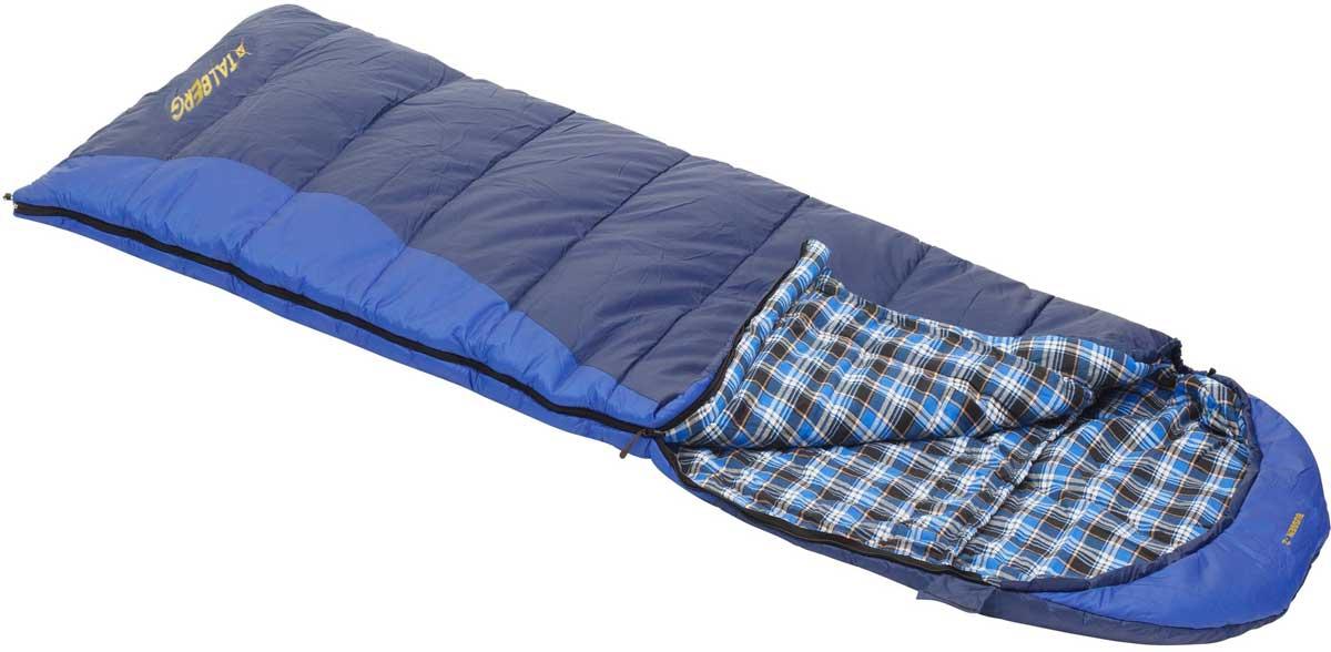 Спальный мешок-одеяло Talberg Bussen -2С, левосторонняя молния, цвет: синий