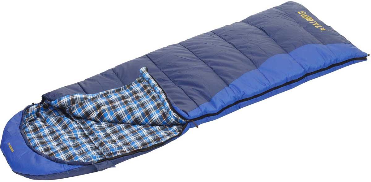 Спальный мешок-одеяло Talberg Bussen -2С, правосторонняя молния, цвет: синий