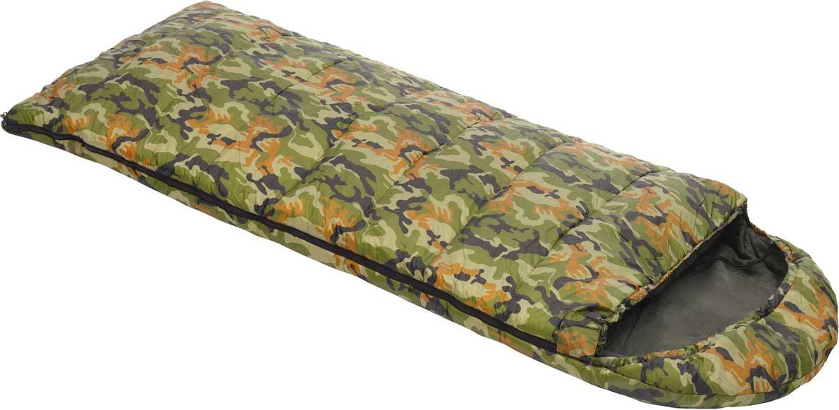 Спальный мешок-одеяло Talberg Forest III -22C, левосторонняя молния, цвет: зеленый мешок спальный red fox forrest left long цвет темно зеленый левосторонняя молния 240 х 90 см