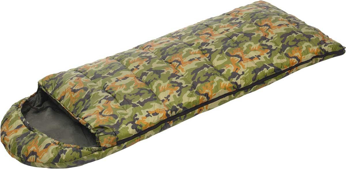Спальный мешок-одеяло Talberg Forest III -22C, правосторонняя молния, цвет: зеленый